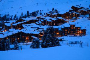 Skidorp in Oostenrijk