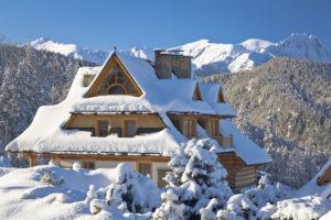 vakantiewoning met sneeuw